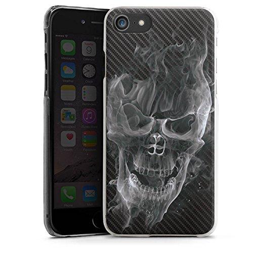 Apple iPhone 7 Silikon Hülle Case Schutzhülle Totenkopf Carbon Smoke Hard Case transparent