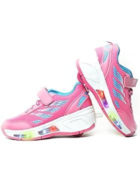 Envio 24H Usay like Zapatillas Con Ruedas Color Rosa Nube Para Niña Niño Talla 28 hasta 35 Envio Desde España