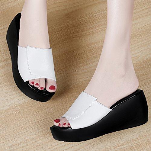ZPPZZP Ms sandali pantofole spessa stile Coreano selvaggi e Paju con 38EU
