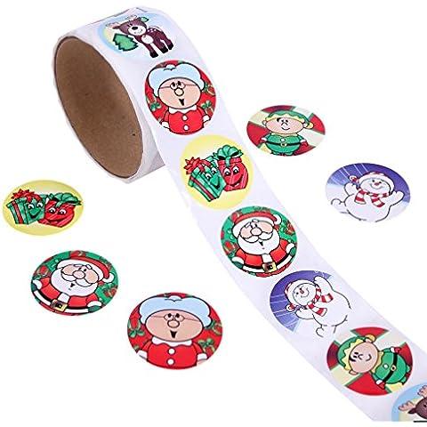 Cartoon Fun Lovely ogni rotolo 100adesivi per Natale, decorazione stanza, Scrapbooking christmas