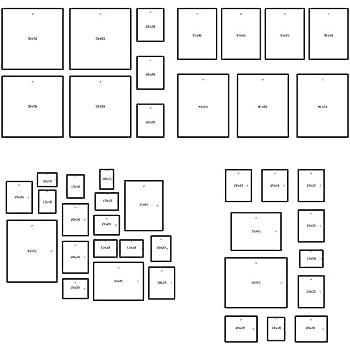 ikea matteby wand vorlage f r h ngende bilderrahmen collage zu hause schule arbeit. Black Bedroom Furniture Sets. Home Design Ideas