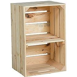 neuf stable Caisse de fruits Escaliers, Caisse de pommes, Boîte à vin en du Altes Land (Vieux-Pays) en Allemagne Nature 54x35x30 cm - Nature avec mittebrett quer