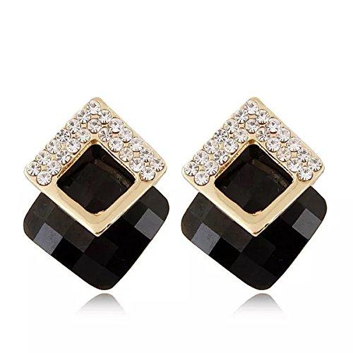 Shining Diva Fashion Black Crystal Stylish Fancy Party Wear Stud Tops Traditional...