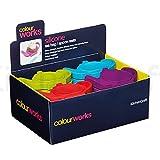 Kitchen Craft Colourworks Teebeutelablage CDU 24 Stk Silicon - Farbig Sortiert