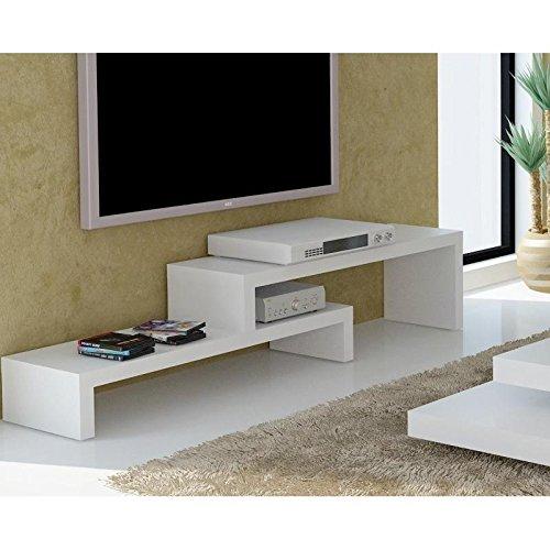 TemaHome Cliff 120 Meuble TV Laque Blanc Mat Design