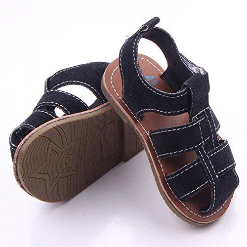 Etrack-Online  Baby Sandals, Baby Jungen Lauflernschuhe, grau - grau - Größe: 0-6 Monate schwarz