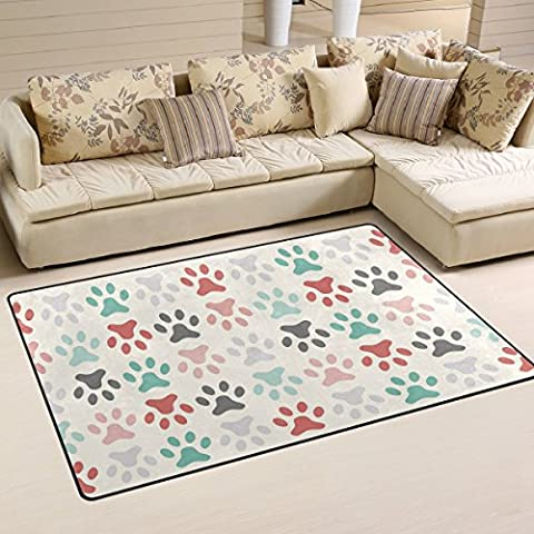 COOSUN Paw Print Area Rug Carpet Non-Slip Floor Mat Doormats for Living Room Bedroom 31 x 20 inches