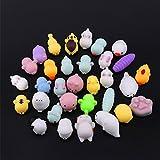 20pcs Kawaii Squishies, Sinto Slow Rising Soft Squishy Animal Squishy Mini Rabbit Chicken Elephant Duckling Sheep Panda Mochi Squeeze Toys, Random Styles