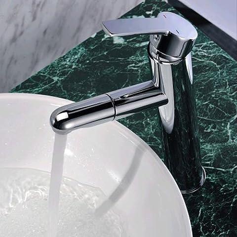 jiayoujia bagno o cucina rubinetto alto monocomando con doccetta estraibile