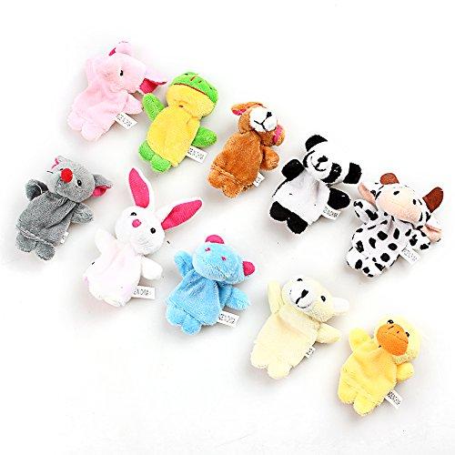 Preisvergleich Produktbild Enko 10pcs Fingerpuppen Spielzeug Geschenke, Weiches Velvet Fingertiere Handkasperletheater Puppets für Kinder.