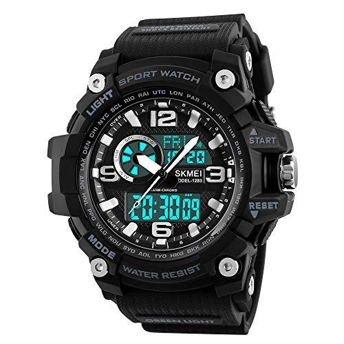 Reloj Hombre Digital,Reloj de Pulsera para Hombre con cronógrafo multifunción, de Cuarzo, Digital...