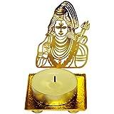 Shiv Ji With Trishool Shadow Diya, Tealight Candle Holders, Decorative Puja Article