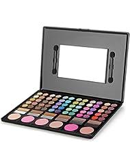 Crazo Kit de Paleta Sombra de Ojos Colores 72 Blush Colores 6 Espejo Cepillos Mate