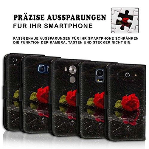 Wallet Book Style Flip Handy Tasche Case Schutz Hülle Schale Motiv Etui für Apple iPhone 4 / 4S - Variante UMV15 Design12 Design 10