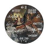 Uosliks Jesus Calms The Storm Orologio da Parete Silent Non Ticking, Round Easy to Read for Home Office School Clock