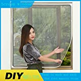 X&M DIY Selbstklebende magnetische Fenster,Können Kundenspezifische ~ Non-Velcro Unsichtbare fensterbildschirm.0 * 0 ist der Benutzerdefinierte aus Einem Meter-Preis-Q 100x120cm(39x47inch)