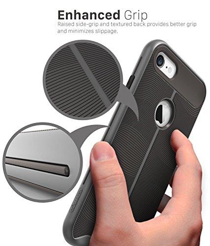iPhone 7 Custodia, Vena [vAllure] Onda Struttura [Bumper Frame][CornerGuard ShockProof] Slim Ibrido Case Cover Copertura per Apple iPhone 7 (4.7) - Oro / Blu Nero