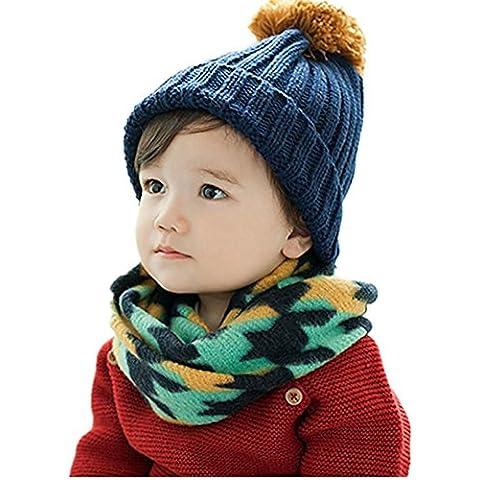 Autunno inverno caldo ispessimento della giuntura sciarpa di lana per bambini , green