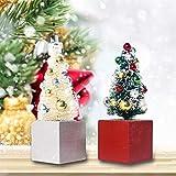 Allowevt 2 Stück Mini Weihnachtsbaum, Weihnachtsbaum Schreibtisch, Winter Schnee Ornamente,...