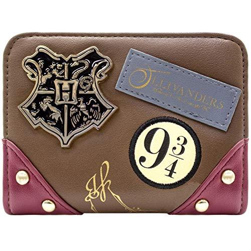 Harry Potter Hogwarts Abzeichen Ollivanders Braun Portemonnaie Geldbörse (Geldbörse Harry Potter)