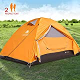 V VONTOX Camping Tent, Dome 2 Person Lightweight Backpacking Tent Waterproof Two Doors