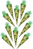 Unbekannt 10 Stück - Schultüten - Marienkäfer  Viel Glück  - 35 cm - mit Tüllabschluß - Zuckertüte - mit / ohne Kunststoff Spitze - für Mädchen & Jungen - Kleeblatt a..