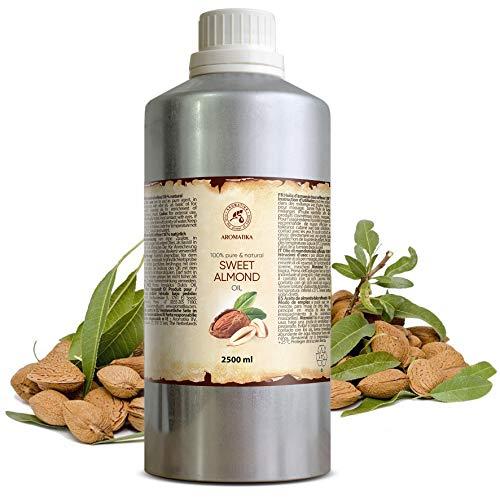 Mandelöl Raffiniert 2500ml - 2.5 Litre - Reines und Natives Mandel Öl - Prunus Amygdalus Dulcis Oil - Italien - Intensive Pflege Für Gesicht - Körper - Haare - für Massage