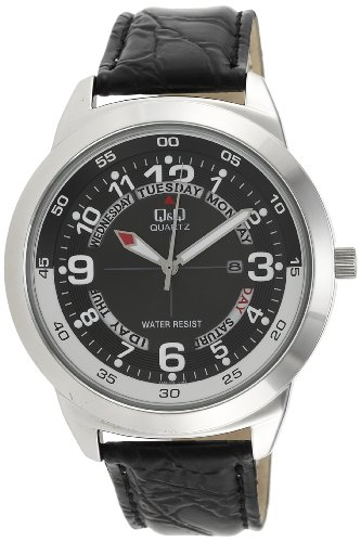 Q&Q Standard Analog Black Dial Men's Watch - A148J305Y image
