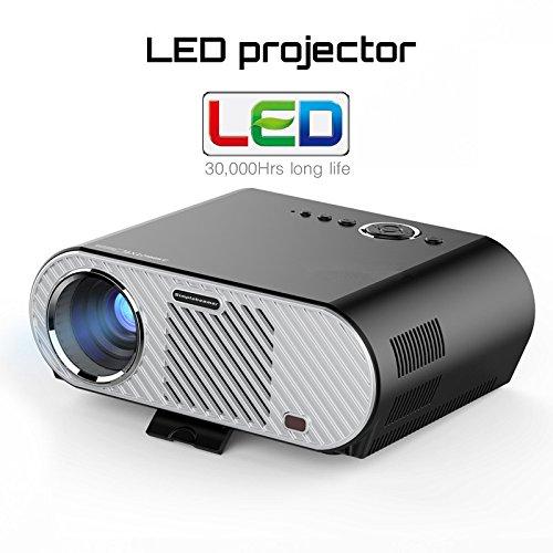 Mini Projecteur LED Projecteur Portable LCD 200inch Beamer 1080 Vidéo Media Player 1280 * 800 HDMI VGA 3200 Lumens Projecteur Numérique