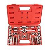 40pcs Metrisches Gewindeschneider und Set Schlüssel Schnitte M3-M12Bolzen + Hard Case