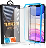 EXTREMEZ Screen Protector for iPhone 11 Pro Max, 2-Pack, 6.5-inch, Tempered Glass HD Screen Saver, 9H Hardness