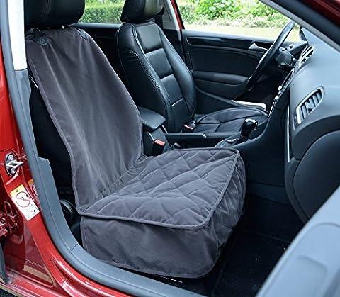 Lanyar Housse de protection de siège baquet de voiture pour chien, en microfibre, gris foncé