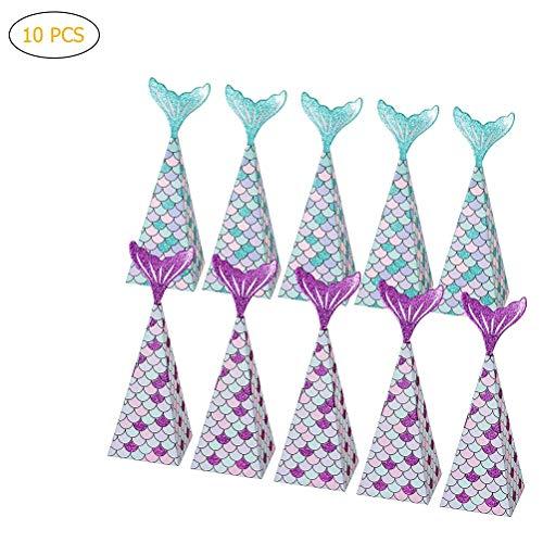 Party Favors Boxes Mermaid Gift Bags Box Kids Mermaid Party Goodie Bags ()