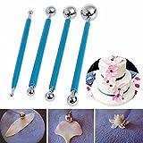 4Flower Sugarcraft Metall Ball Modellier-Set DIY Edelstahl Backen Stift-Fondant Kuchen dekorieren Tools Ausstechformen