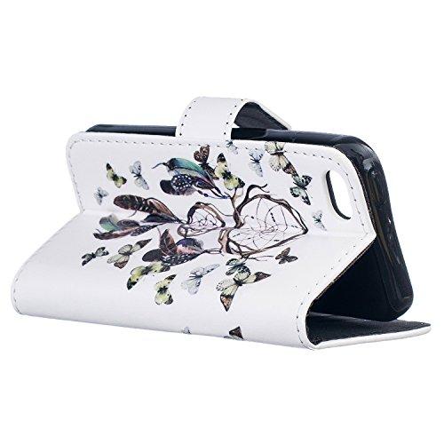 PU Silikon Schutzhülle Handyhülle Painted pc case cover hülle Handy-Fall-Haut Shell Abdeckungen für Smartphone Apple iPhone 5C +Staubstecker (3WW) 7