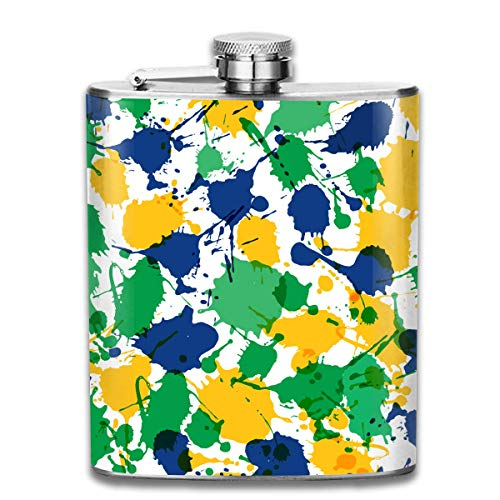 Karneval Brasilien tragbare Flachmann - 7oz Edelstahl Flasche Schraubverschluss für Kletterstange Party Men Top Geschenk