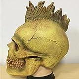 DRSMDR Gesicht Horror Mumie Kopfbedeckung Persönlichkeit Punk Mantel Maske Call Of Duty Ghost Ride CS Maske,Green