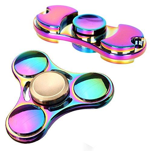 #Fidget Toys Spinner Finger Hand Spielzeug für Kinder und Erwachsene Spielzeug Geschenke, 2 Stück (Rainbow)#