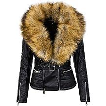 Suchergebnis auf Amazon.de für  damen lederjacke mit fellkragen d6052bb64e