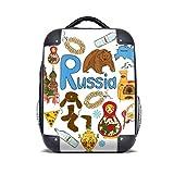 diythinker Russland Akkordeon Basilikum-Kathedrale Hard Case Schultergurt Kinder Rucksack Geschenk 38,1cm
