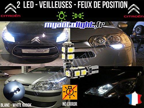 MyAutoLight - Pack Ampoules Voiture Pour C3 PICASSO - Veilleuses - Blanc Pur Effet Xénon