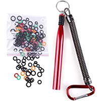 "LotFancy Wacky Worm Rig Tool and 150PCS O-Rings for 3"",4""&5"", 6"" Senko & Stick Soft Baits"