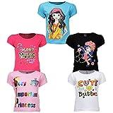 #10: Goodway Girls Attitude Theme Printed T-shirts (Pack of 5 )(JG5PCKATT-1_Multicolour)