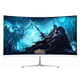 Wearson 23.8 inch Ultra Thin 7mm Curved Widescreen LCD Gaming Monitor 2ms Response Time HDMI VGA input WS238H