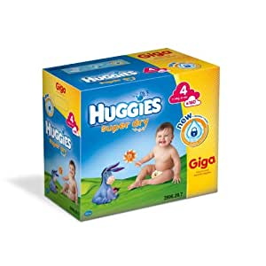 Huggies Super Dry Size 4 (15-31 lbs/7-14 kg) Nappies - Pack of 160