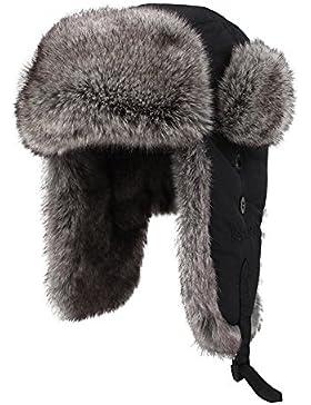Kenmont inverno pelliccia ecologica unisex cappello aviatore russia cappuccio trapper earflap bomber