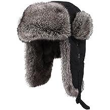 Kenmont Unisex in finta pelliccia invernale Russia Aviatore cappello trapper earflap bomber cappuccio