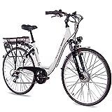 CHRISSON 28 Zoll E-Bike Trekking und City Bike für Damen