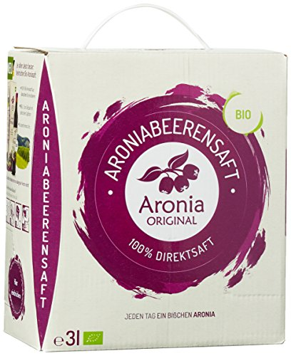 Preisvergleich Produktbild Aronia Original Naturprodukte GmbH 100% Bio Aronia-Muttersaft im Monatspack,  1er Pack (1 x 3 l)