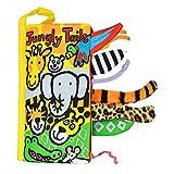 Kangrunmys Animal Queues Tissu Doux Livre pour Bébés Activité Pli Livres, Main Apprentissage Éducation Jouets pour bébé, 3-12 Mois, Interactive Garçon Fille, Cadeau Boîte Développement Livres (A)